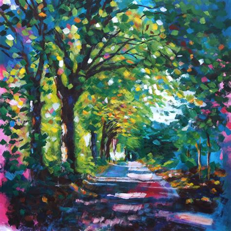 acrylic painting path at saltaire a r t