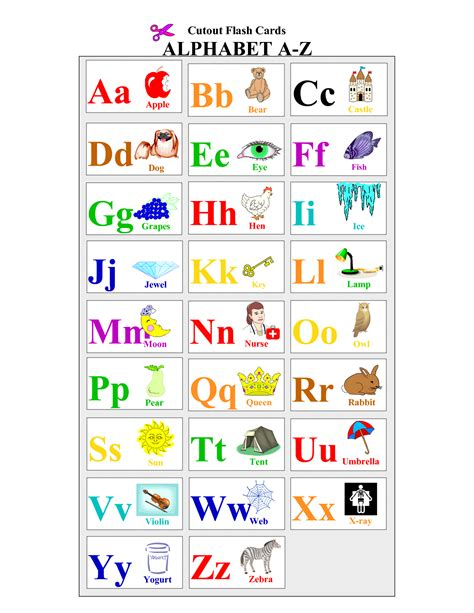 letter cards for words 8 best images of printable alphabet letter cards