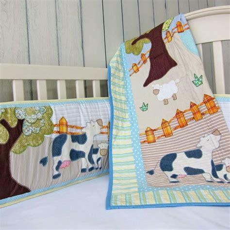cotonnier s farm animal crib bedding set
