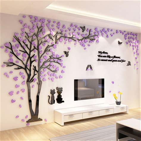 bedroom wall decor stickers aliexpress buy creative tree 3d sticker