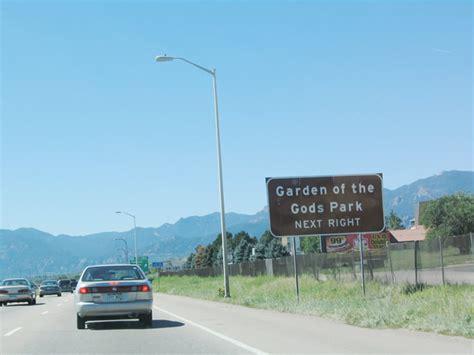 Garden Of The Gods Exit Colorado Aaroads Interstate 25 El Paso County
