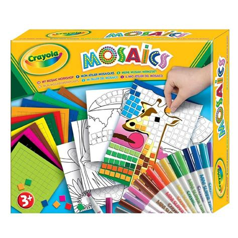 craft sets crayola my mosaics stickers by numbers workshop childrens