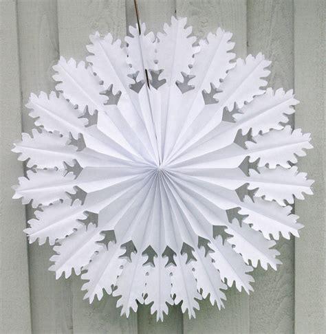 paper snowflake decorations oak snowflake paper decoration by boase ltd