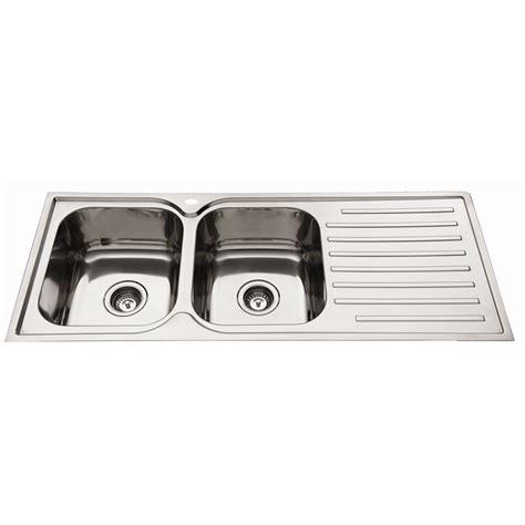everhard kitchen sinks everhard 1180mm squareline lh 2 bowl kitchen sink with drainer