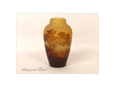 vase glass paste pond landscape signed gall 233 nouveau nineteenth century