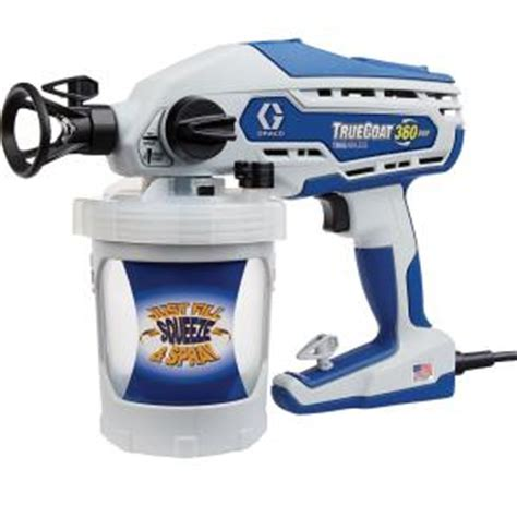 home depot paint sprayer rental cost graco truecoat 360dsp airless paint sprayer 16y386 the