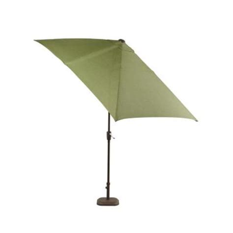 rectangular patio umbrella hton bay pembrey rectangular patio umbrella in moss