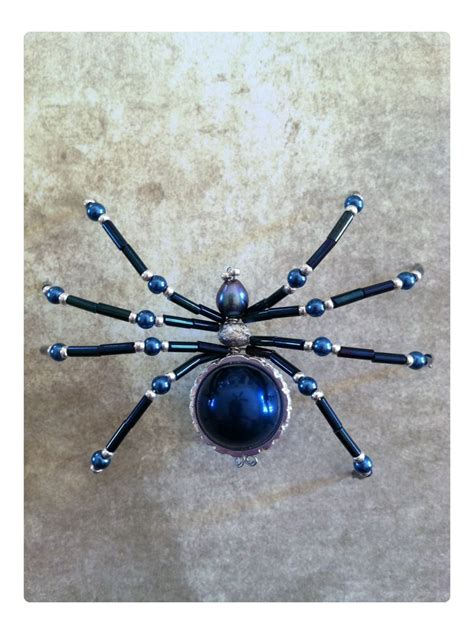 how to make bead beaded spider tutorial