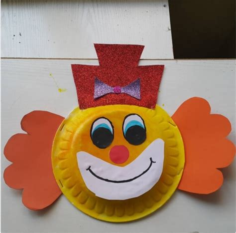paper plate clown craft crafts actvities and worksheets for preschool toddler and