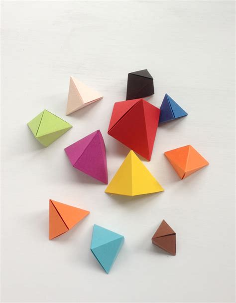 how to make origami geometric shapes origami bipyramid tutorial what to do with them mr