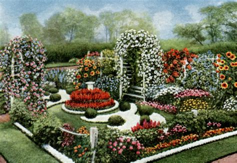 flower garden plans vintage annual flower formal garden plan vintage fangirl