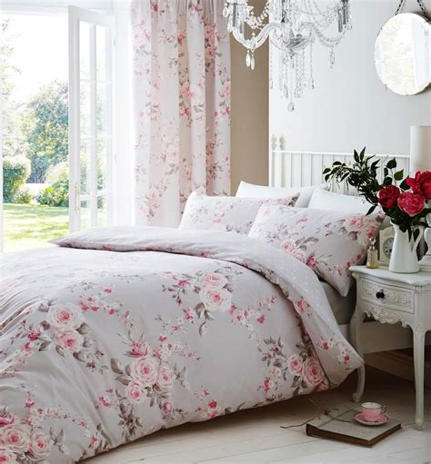 pink and grey bed sets catherine lansfield canterbury grey pink duvet quilt