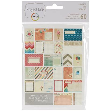 american crafts project american crafts project themed cards 60 pack summer