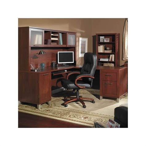 home office desks l shaped bush furniture somerset l shaped wood home office set