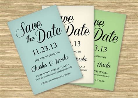 make save the date cards free three free microsoft word save the date templates