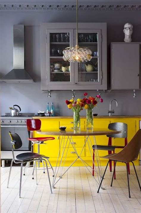 yellow and gray kitchen how to decorate the kitchen using yellow accents