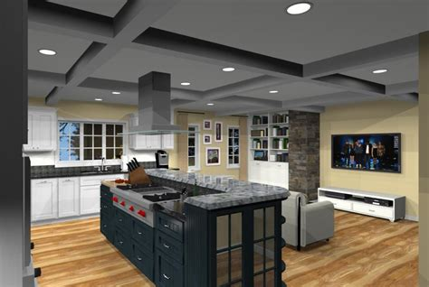 open floor plan kitchen designs kitchen addition with open floor plan in monmouth county new jersey