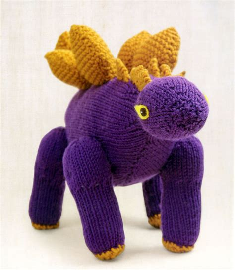 Just Crafty Enough Project Stegosaurus Knitted Dinosaur