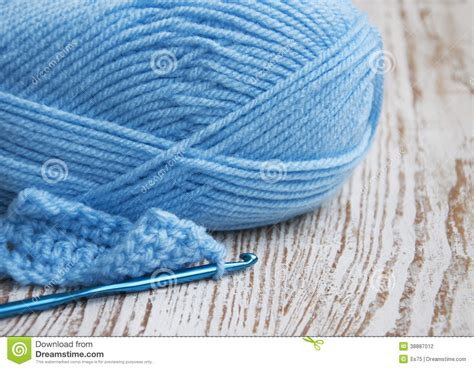 knitting hook crochet hook and knitting yarn stock photo image 38887012