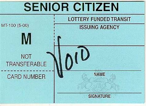 how to make senior citizen card septa senior citizens