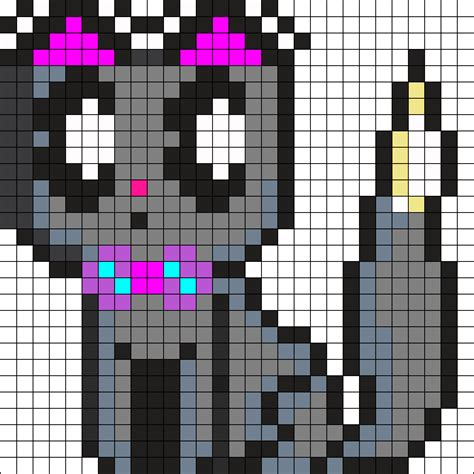 kawaii perler bead patterns suprised kawaii cat perler bead pattern bead sprites