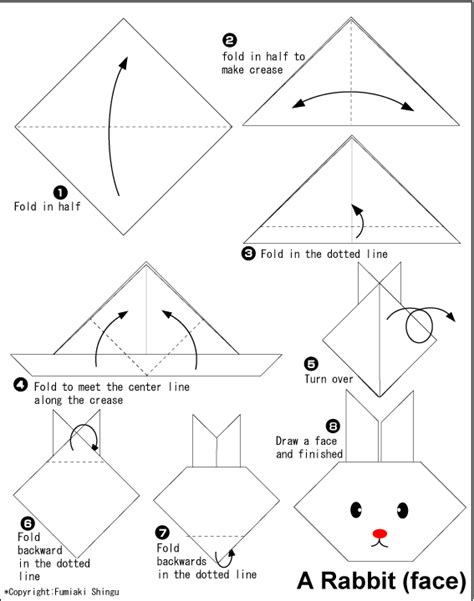 easy origami easter bunny origami rabbit easy origami for