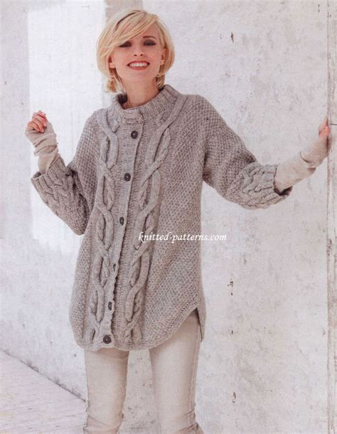 cable knit sweater pattern s cardigans knitting patterns