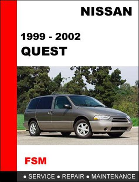 motor auto repair manual 1999 nissan quest security system sell nissan quest 1999 2002 factory service repair manual access it in 24 hours motorcycle in