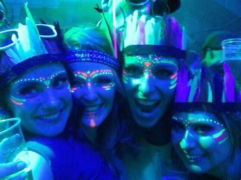 glow in the paint makeup uv glow in the indians blacklight