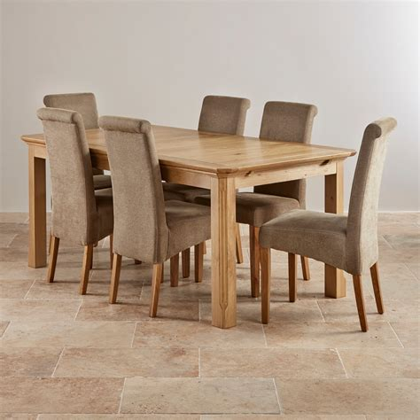 oak dining table set edinburgh solid oak dining set 6ft extending