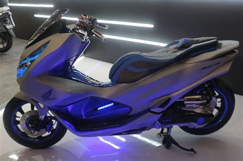 Pcx 2018 Aksesoris by Honda Pcx 2018 Dimodif Bergaya Futuristik Modifikasi