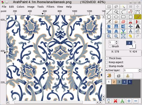textile design software arahpaint drawing