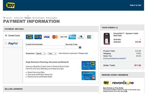 how to make best buy credit card payment checkout design payment method selection articles