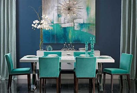 teal dining room chairs colors of nature 22 turquoise interior design ideas