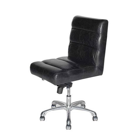Black Leather Desk Chair by Leather Desk Chair Furniture