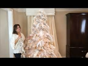 decorating a white flocked tree how to decorate a white flocked tree