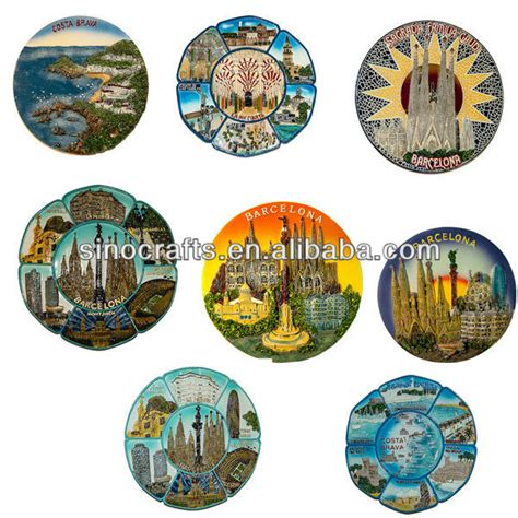 spain crafts for custom souvenir 3d ceramic decorative plate crafts spain
