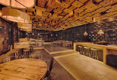 woodwork restaurant exclusive wooden decor interiorzine