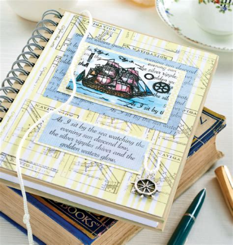 nautical craft projects nautical notebook set free craft project papercrafting
