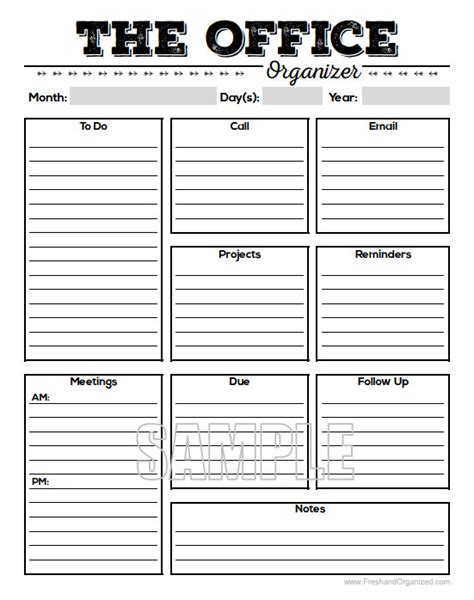 planning an office the office organizer 2 planner page work planner office