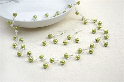 jewelry projects ideas jewelry crafts ideas adorable pearl necklace earring set