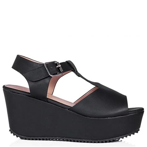 leather platform sandals buy sandcast flatform platform sandal shoes black leather style