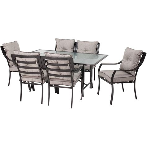 patio 7 dining set hanover lavallette 7 patio outdoor dining set