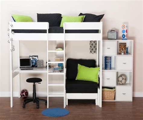 mid high bunk beds stompa uno 5 white high sleeper set contemporary high
