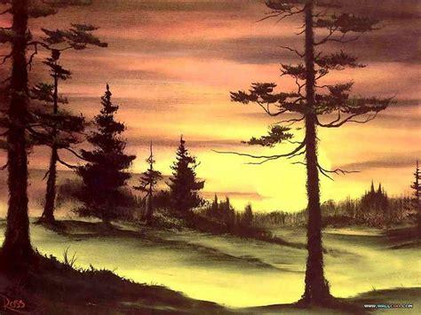 bob ross painting landscape bob ross landscape paintings evergreens at sunset 25 bob