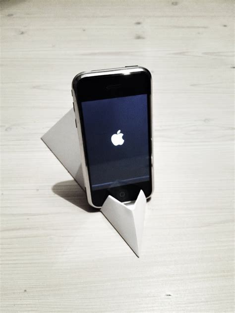 origami iphone stand how to make origami paper iphone facetime stand