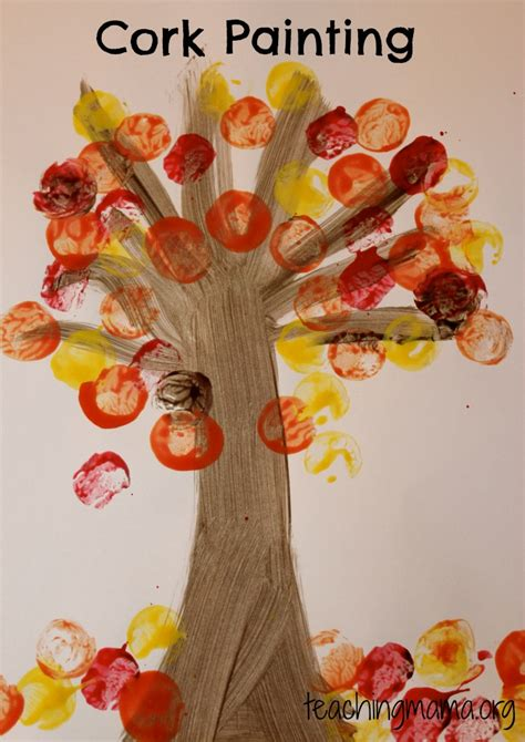 fall themed crafts for crafts fall painting projects