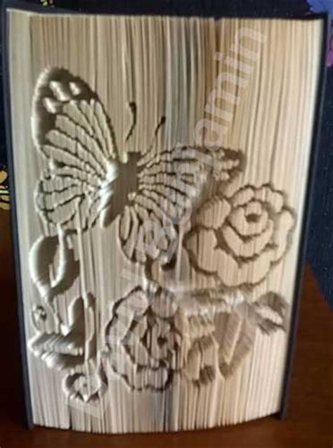 book origami patterns butterfly with flowers cut fold book folding pattern