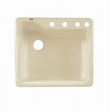 kitchen sink porcelain shop american standard silhouette single basin drop in or