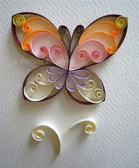 paper quilling crafts for easy paper quilling butterfly for craft projects
